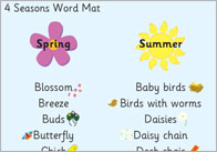 Four Seasons Word Mat