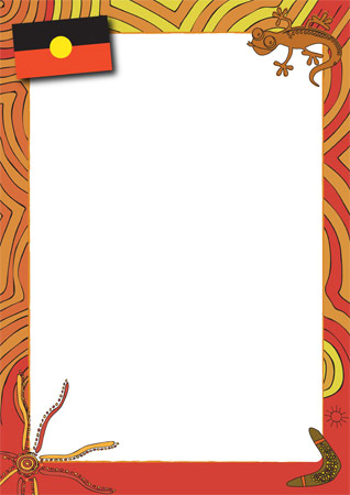 Aboriginal Themed Notepaper on Preschool Graduation Letter To Children