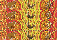 Aboriginal Art Themed Display Border