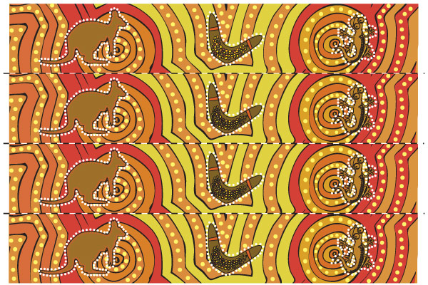 Aboriginal Art Themed Display Border Free Early Years