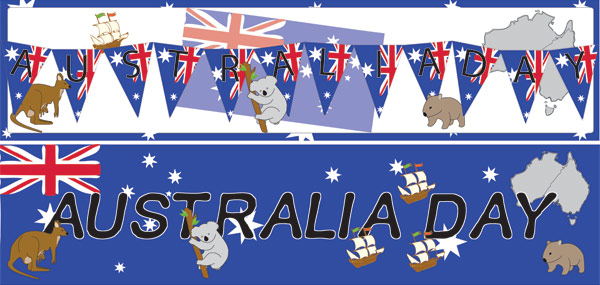 Australia Day Display Posters