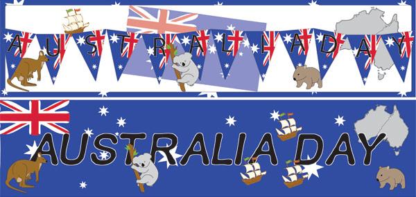 Australia Day Display Posters