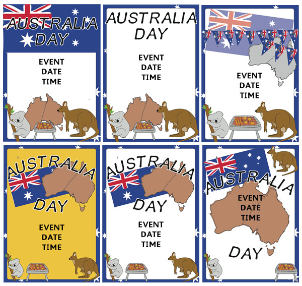 Australia Day Event Posters Free Early Years amp Primary Teaching