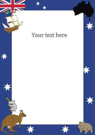 free australian will template - australia day notepaper page borders free early years