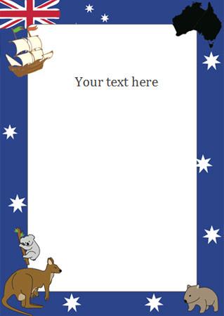 Australia Day Notepaper