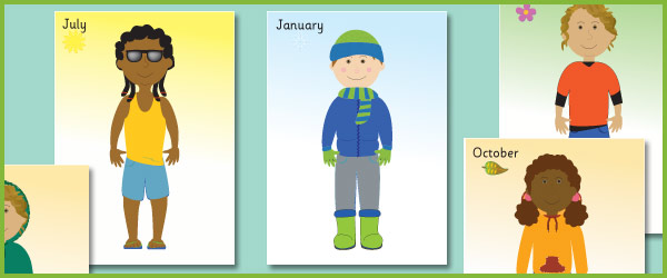 Seasonal clothes posters