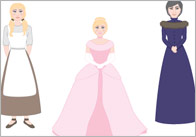 Cinderella Character Cut-Outs / Stick Puppets