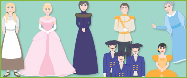 Cinderella Character Cut-Outs / Stick Puppets | Free Early Years ...
