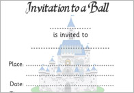 Cinderella eyfs ks1 teaching resources fairytale printables cinderella ball invitation stopboris Choice Image