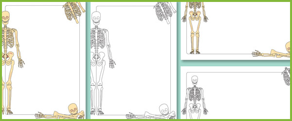 Skeleton Notepaper