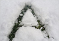 Snow Letter Photographs - Upper Case