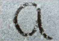 Snow Letter Photographs – Lower Case