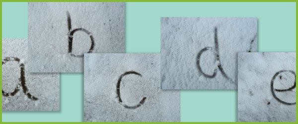 Snow letters lowercase