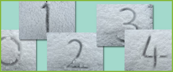 Snow Number Photographs