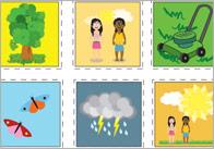 Summer words Summer Topic Bingo Cards