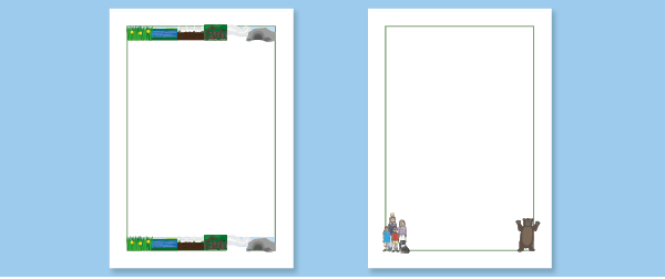 Weu2019re Going on a Bear Hunt Notepaper : Free Early Years ...