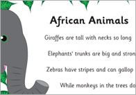African Animals1 African Animals Poem
