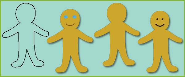Gingerbread Man Blank Templates