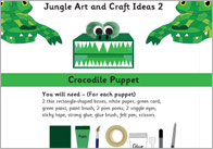 Crocodile puppet 1 Crocodile Puppet Craft Activity