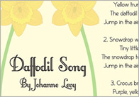 Illustrated Daffodil Song Sheet