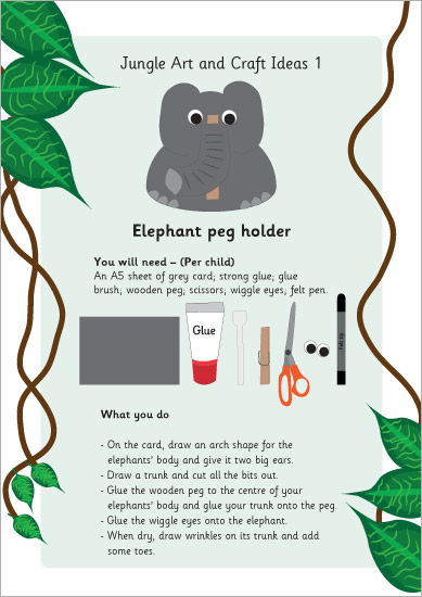 Elephant Peg Holder Craft Idea