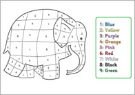 Elmer the Elephant Colour by Numbers