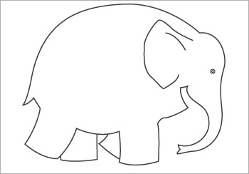 Early Learning Resourcess Elmer Colouring Sheet 2