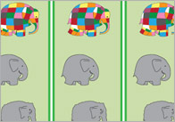 Elmer the Elephant Display Borders