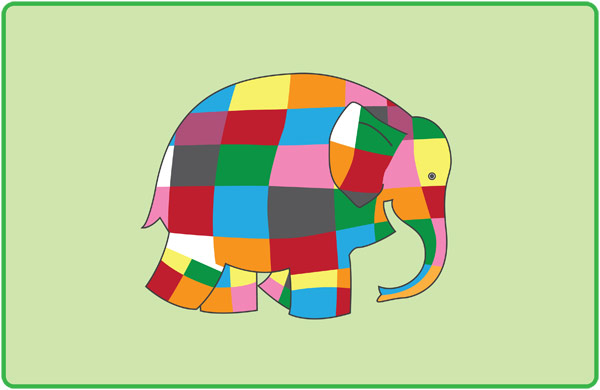 Elmer the Elephant Playdough Mats