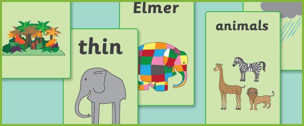 Elmer the Elephant A4 Posters