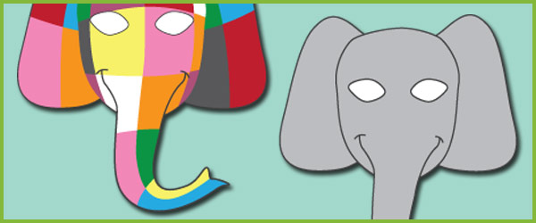 Elmer the Elephant Role-Play Masks