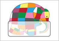 Elmer the Elephant Self-Registration Labels