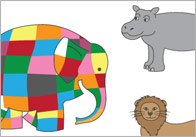 Elmer the Elephant Story Cut-Outs