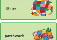 Elmer the Elephant Flashcards