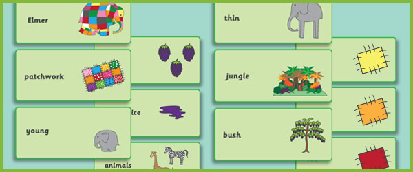 Elmer The Elephant Flashcards Free Early Years Amp Primary Teaching Resources Eyfs Amp Ks1