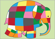 Elmer the Elephant A4 Posters