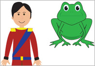 The Frog Prince Story Cut Outs