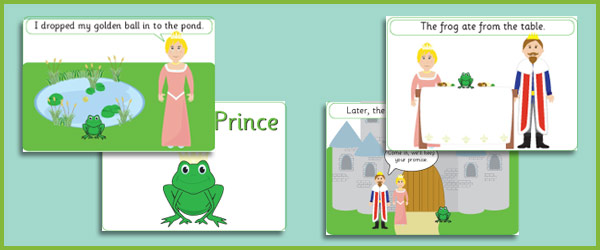 Frog Prince Story Sequencing Cards