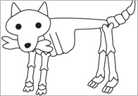 Funny Bones Moving Dog Cut-Out Poster