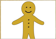 The Gingerbread Man 15x15cm Beebot Cards