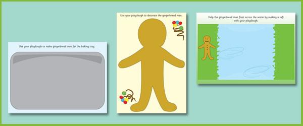 The Gingerbread Man Playdough Mats