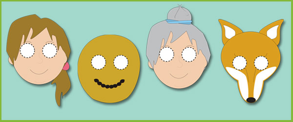 Gingerbread Man Masks for Role-Play