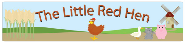 Little Red Hen display banner