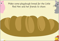 Little Red Hen Playdough Mats