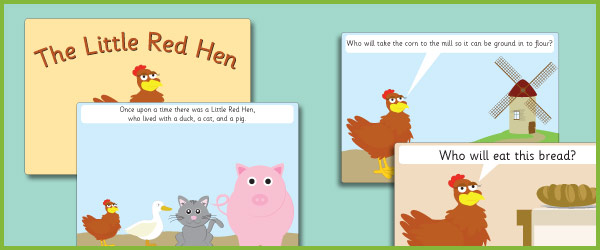 Little Red Hen story sequencing cards (free story resources) | Free ...
