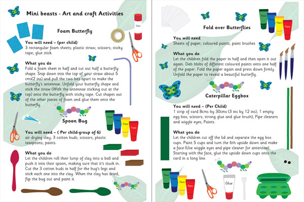 Minibeast Arts And Crafts Ideas Free Early Years Primary