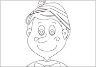Pinocchio Colouring Sheets
