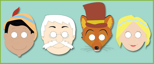 Pinocchio Masks for Role-Play