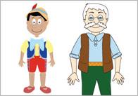 Pinocchio Stick Puppets