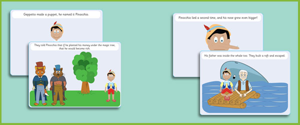 Pinocchio Story Sequencing Cards